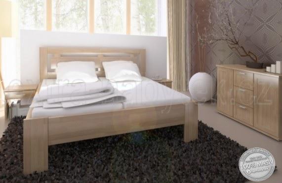 Vysoká manželská postel Naomi supra BUK