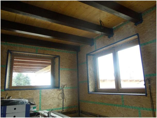 Foukaná izolace střechy