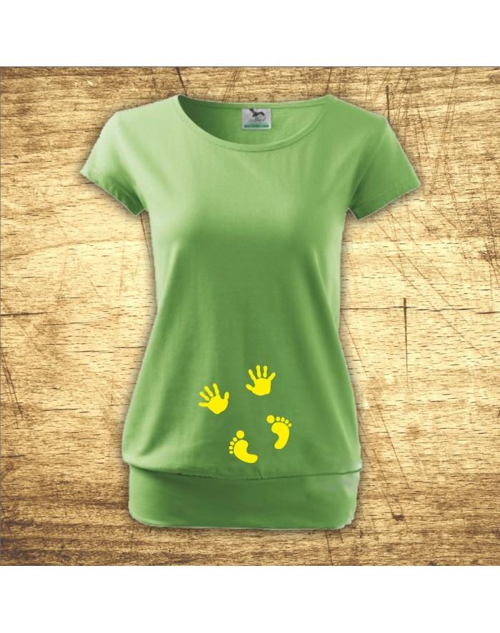 Vtipné těhotenské tričko s obrázkem
